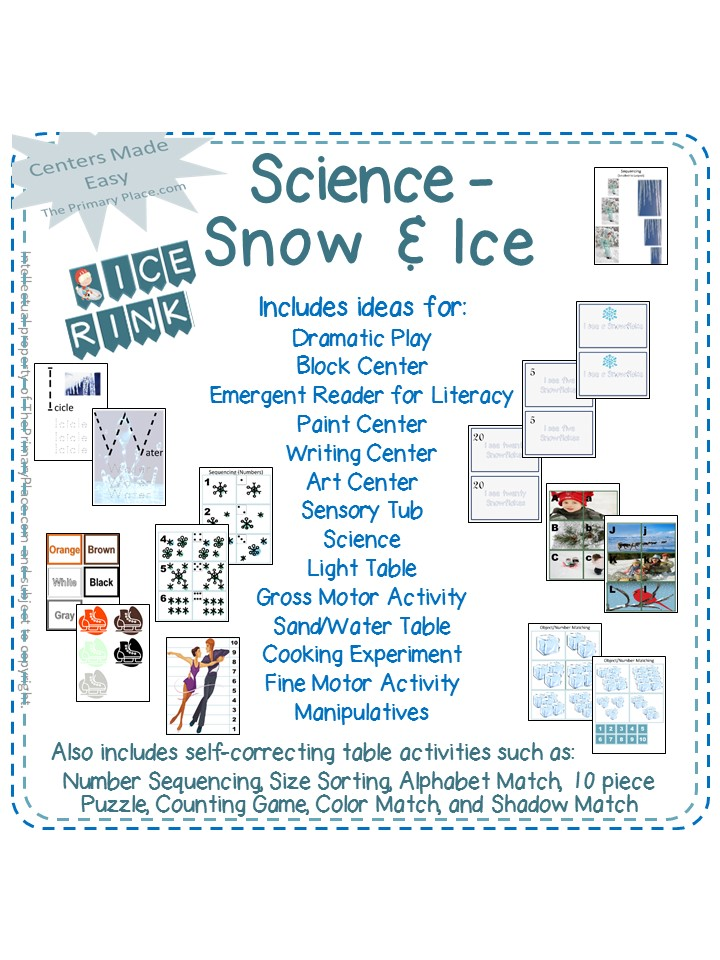 Preschool Curriculum Science Snow And Ice The Primary