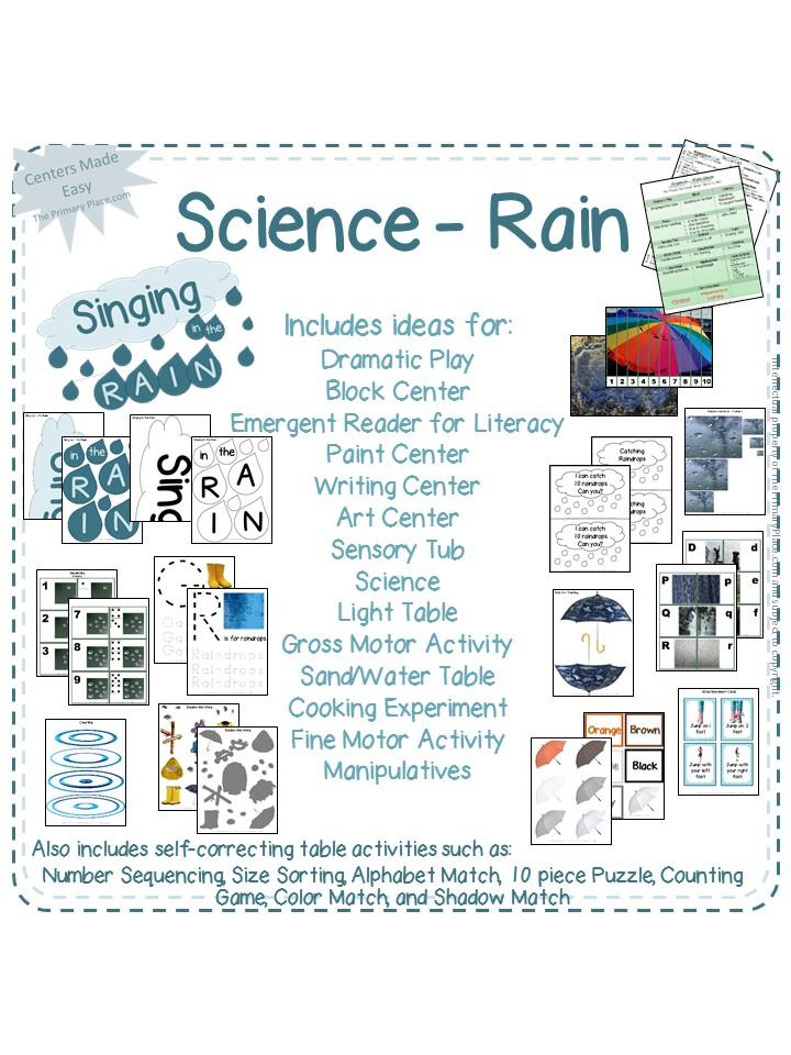 Science Rain - Kindergarten Science Curriculum